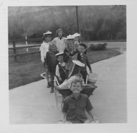 Easter Bonnets & Cousins