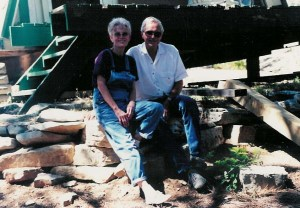 Dad & Mom at the Cabin