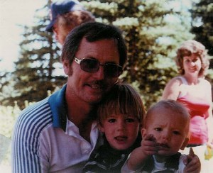Dad with Ryan & Vern A Stratton (Grandsons)