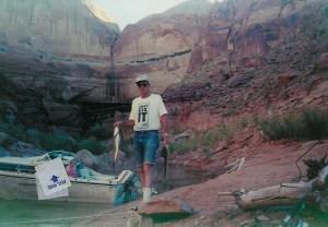 Dad fishing at Lake Powell