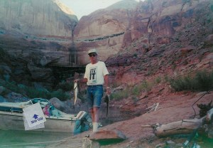 Dad fishing at Lake Powell