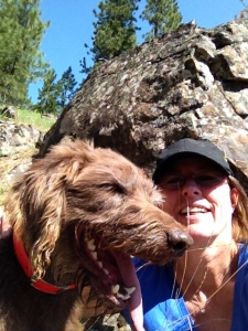 Mala's my hiking partner today ... & Her First Selfie