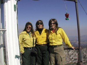 Trinity Lookout East Roaring Fire Idaho 2006 Renee Flanagan, Me, Dawn Elkington