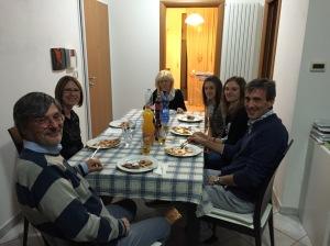 L to R ... Stephano Fanucci, Keri Vest-Vergari, Fiorella Mosca Fanucci, Laura Fanucci, Lisa Fanucci, Romano Fanucci