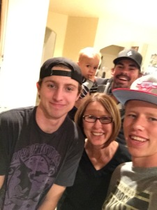 How can you not smile with these people for family? Tony, me, Wyatt, Bodie, Clint 2015