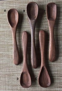 Handcrafted Black Walnut Spoons Fit & Balanced Deep bowls, One of a kind. It'll last a lifetime