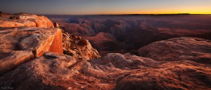 <p>Panoramic evening view from the southern edge of Cedar Mesa, overlooking the <a Jack Brauer www.mountainphotography.com